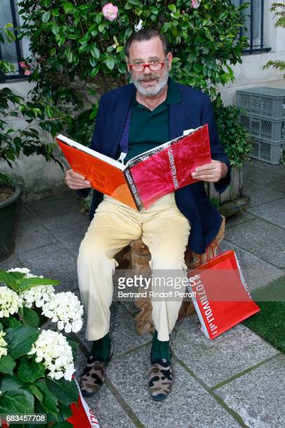 "Landscape architect Louis Benech attends the ""The Garden of Peter Marino"" Book Signing at ""Moulie Flowers"" on May 15, 2017 in Paris, France. Preface..."