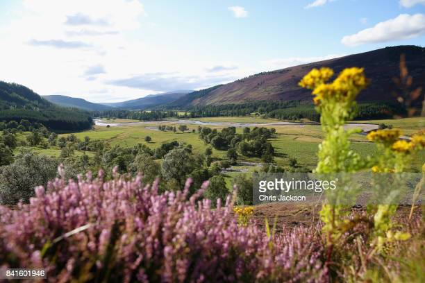 Landscape around Braemar ahead of the 2017 Braemar Gathering at The Princess Royal and Duke of Fife Memorial Park on September 1 2017 in Braemar...