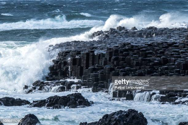 Landscape around Giant's Causeway, Northern Ireland