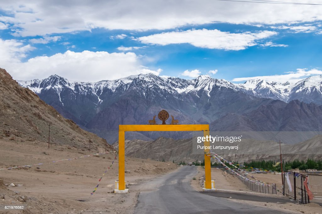 Landscape around Leh district in India : Stock Photo
