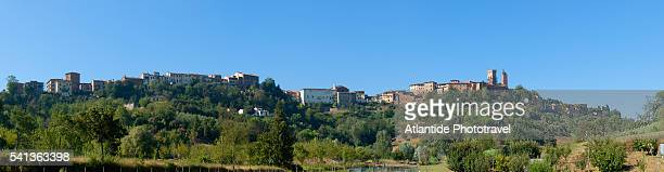 landscape around the city - san miniato stock pictures, royalty-free photos & images