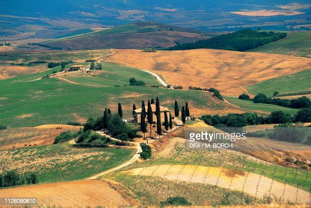 Landscape arount San Quirico d'Orcia, Val d'Orcia , Tuscany, Italy.