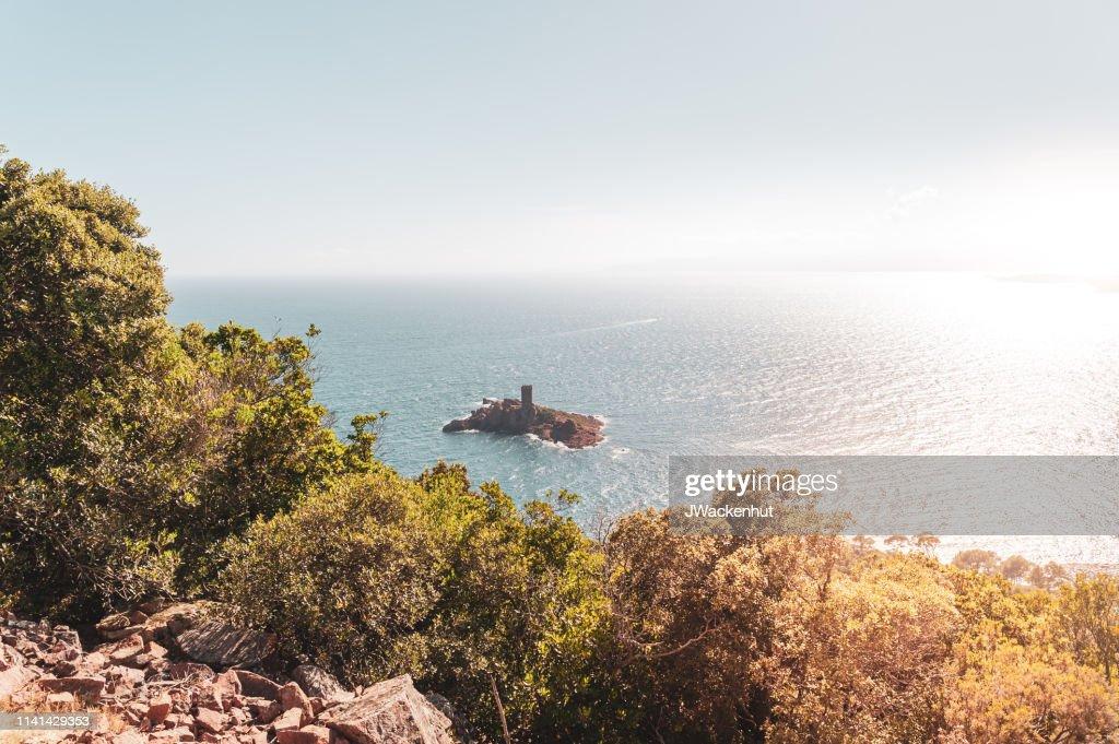 Paysage au Cap du Dramont avec l'Ile d'or : Photo