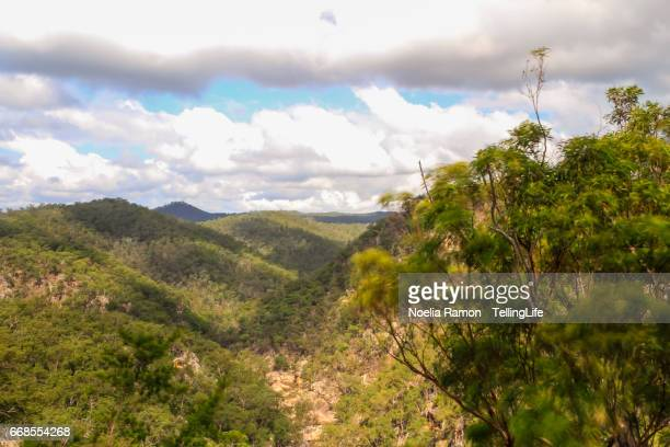 Landscape at Crow Nest with clouds, Queensland, Australia
