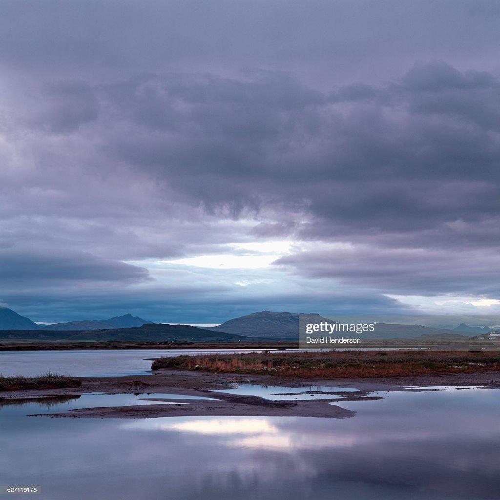 Landscape at dusk : Stock Photo