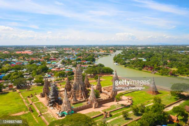 landscape ayutthaya historical park in ayutthaya - ayuthaya province stock pictures, royalty-free photos & images