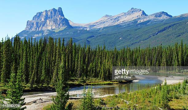 landscape beauty in banff national park - bow valley stock pictures, royalty-free photos & images