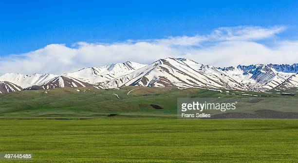 landscape  between osh and bishkek - frans sellies stock pictures, royalty-free photos & images