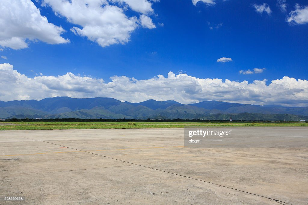 landscape, blue sky , mountains and clouds : Stock Photo