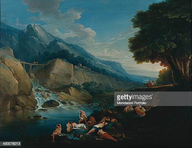 Landscape by Giuseppe Bernardino Bison 19th Century oil on canvas