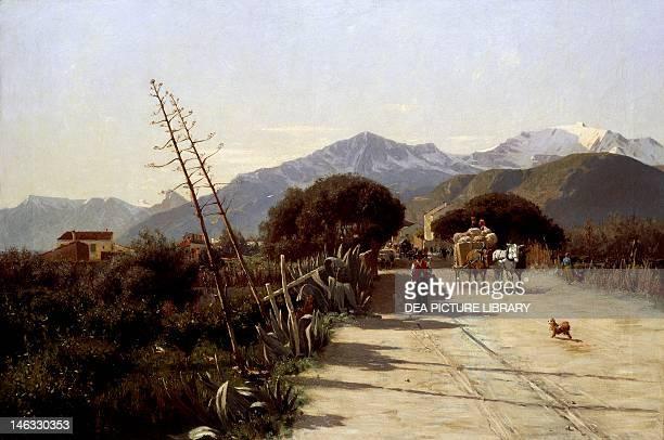 Landscape by Marco De Gregorio oil on canvas 119x81 cm