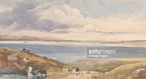Landscape by the Shore with Road in Foreground. Artist James Bulwer.