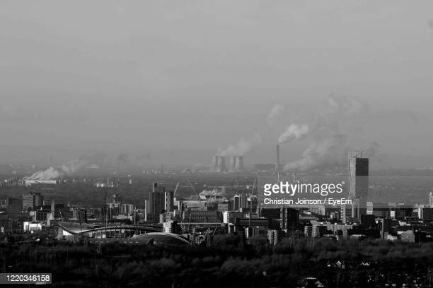 landscape city view - manchester england stock pictures, royalty-free photos & images