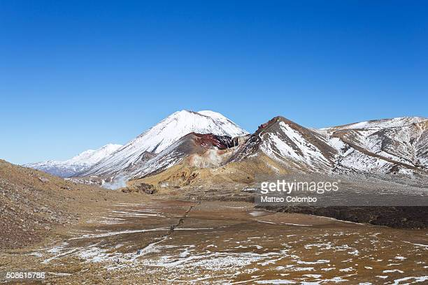 Landscape: famous volcano and desolate valley, Tongariro, New Zealand