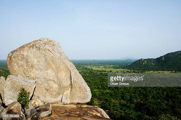 landscape from mihintale hill. - mihintale stock pictures, royalty-free photos & images