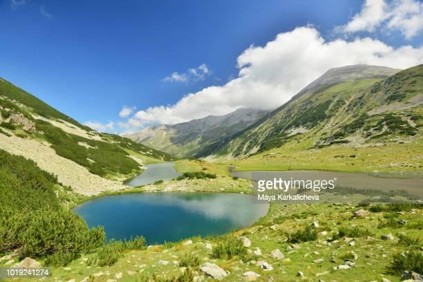 landscape from pirin mountain, bulgaria, vlahini lake and vihren peak - pirin national park stock pictures, royalty-free photos & images