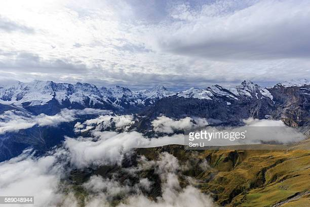 Landscape from the peak of Schilthorn, Switzerland