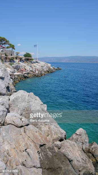 landscape hydra island, greece. - hydra stock photos and pictures