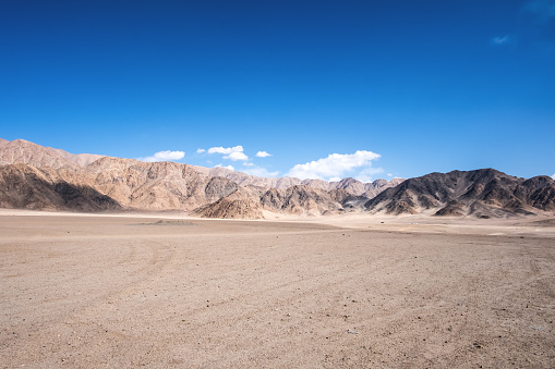 Landscape image of mountains and blue sky background in Ladakh , India 887452336