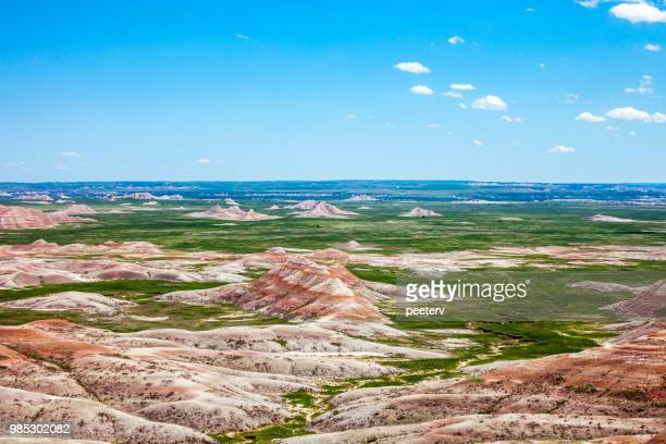landscape in badlands, south dakota - south dakota stock photos and pictures
