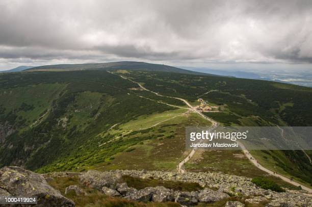 landscape in carpathian mountains. - maslowski stock-fotos und bilder