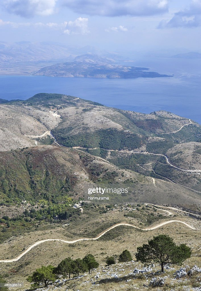 Landscape in Corfu : Stock Photo