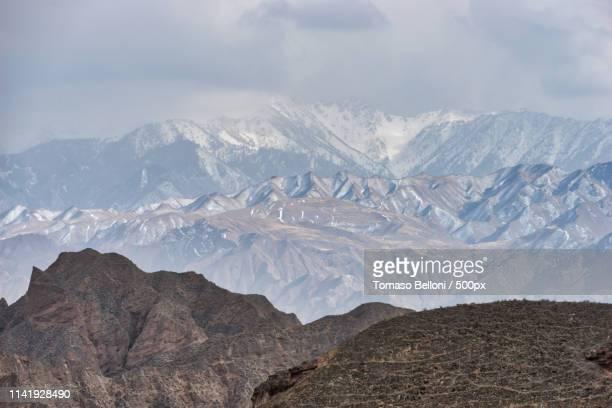 landscape in danxia - 甘粛張掖国家地質公園 ストックフォトと画像