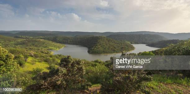 landscape in extremadura spain - extremadura fotografías e imágenes de stock
