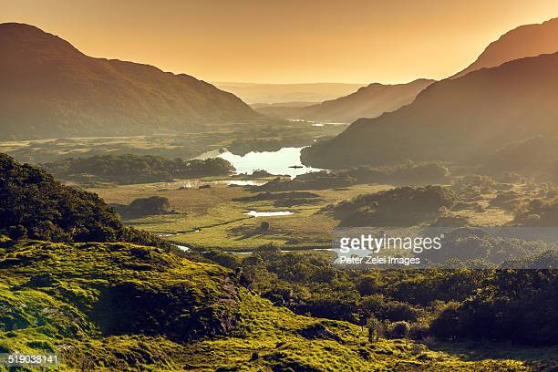 landscape in ireland - ladies view - ring of kerry stock photos and pictures