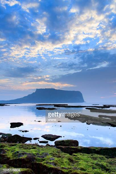 landscape in jeju island, korea - jeju stock photos and pictures