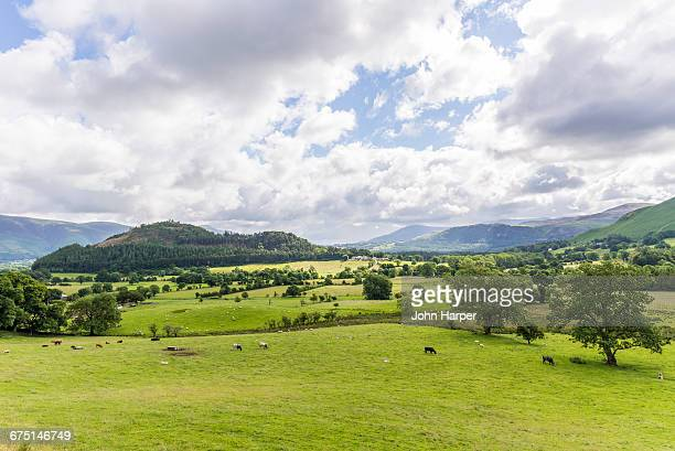 Landscape in Lake District, England.