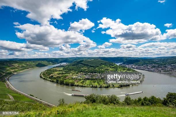 Landscape in Rhine river in Germany