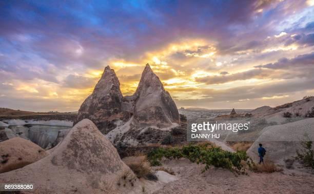 landscape in Rose Valley in Cappadocia, Turkey