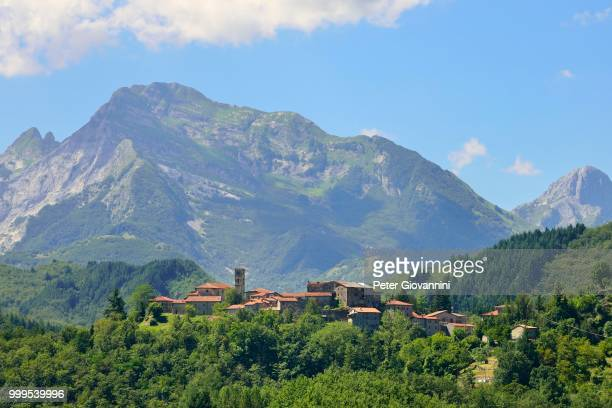Landscape in the Apuan Alps, near San Michele, Garfagnana, Province of Lucca, Tuscany, Italy