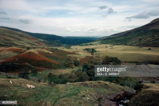 Landscape in the Brecon Beacons national park, Wales, United Kingdom.