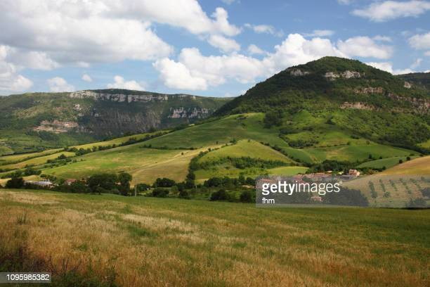 landscape in the dep. aveyron/ france - aveyron stock pictures, royalty-free photos & images