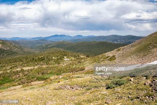 landscape in the james peak wilderness, colorado - clima alpino foto e immagini stock