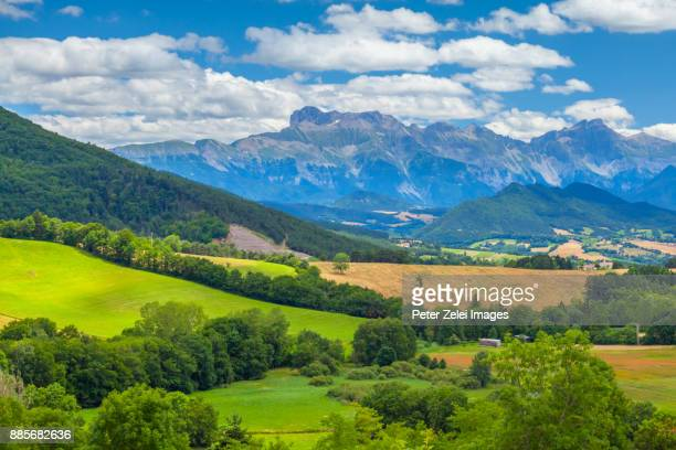 landscape in the rhone-alpes region, france - rhone alpes stock photos and pictures