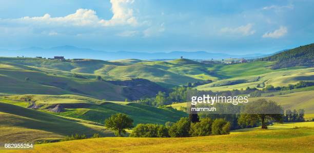 Landscape in Tuscany in the spring