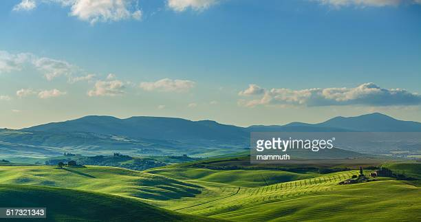 landscape in tuscany - rolling landscape stock pictures, royalty-free photos & images