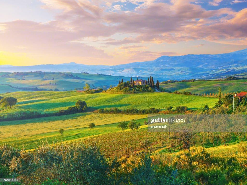 トスカーナの景観 : ストックフォト