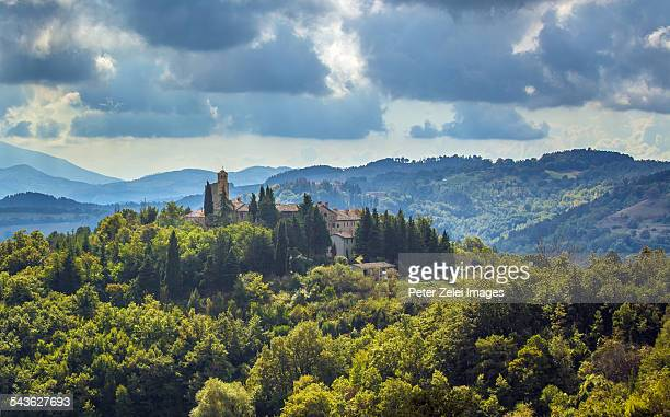 landscape in umbria, italy - umbria stock pictures, royalty-free photos & images