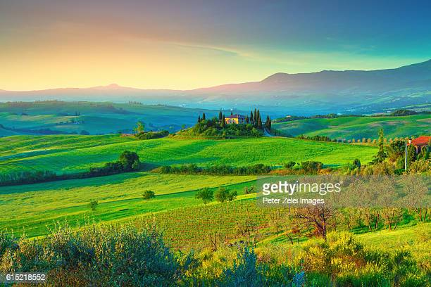 Landscape in Val d'Orcia, Tuscany, Italy