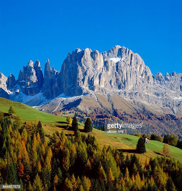Landscape Italy Europe South Tyrol Dolomites Catinaccio mountains rock