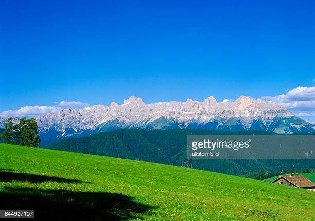 Landscape Italy Europe South Tyrol Dolomites mountains rock Catinaccio