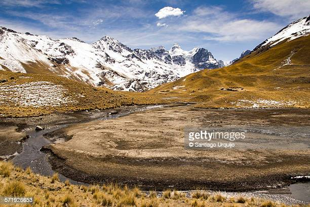 Landscape leading to Nevado Condoriri