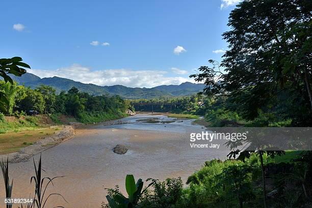 Landscape Mekong river Luang Prabang Laos