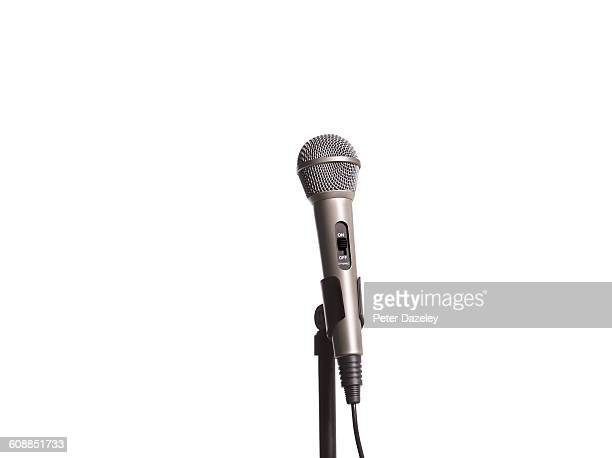 Landscape microphone with copy space