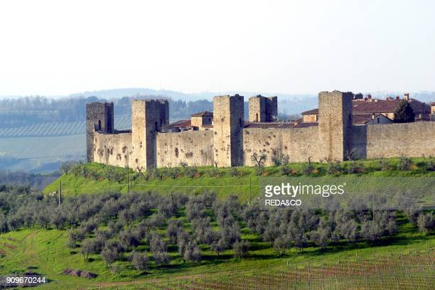 Landscape Monteriggioni Tuscany Italy