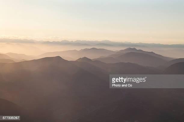 landscape mountain (alps) at sunrise